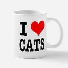I Heart (Love) Cats Mug