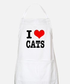 I Heart (Love) Cats BBQ Apron