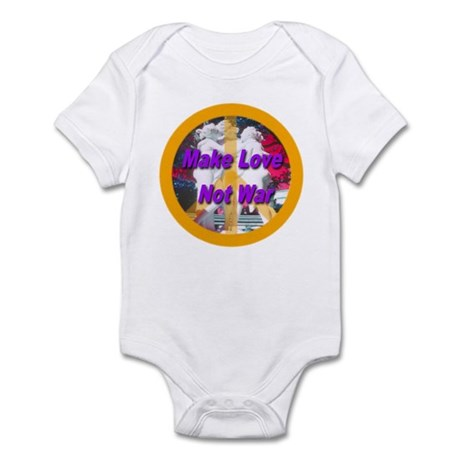 Make Love Not War Peace Symbo Infant Bodysuit