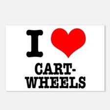 I Heart (Love) Cartwheels Postcards (Package of 8)