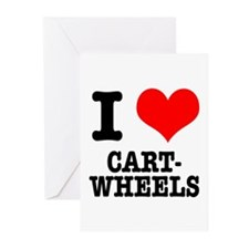 I Heart (Love) Cartwheels Greeting Cards (Package