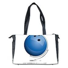 Planet bowling world globe Diaper Bag
