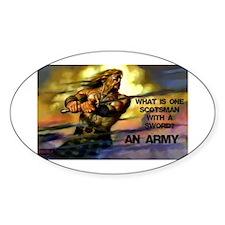 Scottish Army Decal