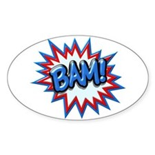 Comic Book Burst Bam! 3D Decal