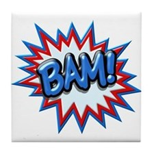 Comic Book Burst Bam! 3D Tile Coaster