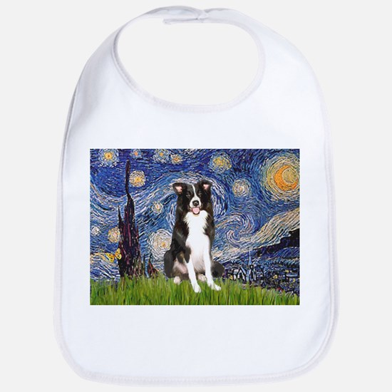 Starry Night Border Collie Bib