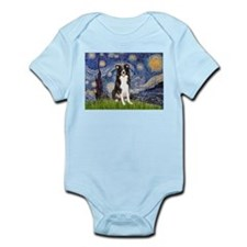 Starry Night Border Collie Infant Bodysuit