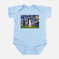 Starry Night Border Collie Infant Bodysuit