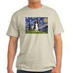 Starry Night Border Collie Light T-Shirt