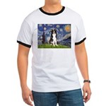 Starry Night Border Collie Ringer T