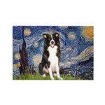Starry Night Border Collie Rectangle Magnet (10 pa