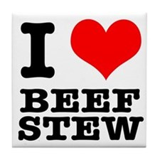I Heart (Love) Beef Stew Tile Coaster