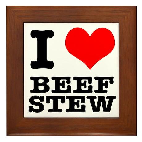 I Heart (Love) Beef Stew Framed Tile