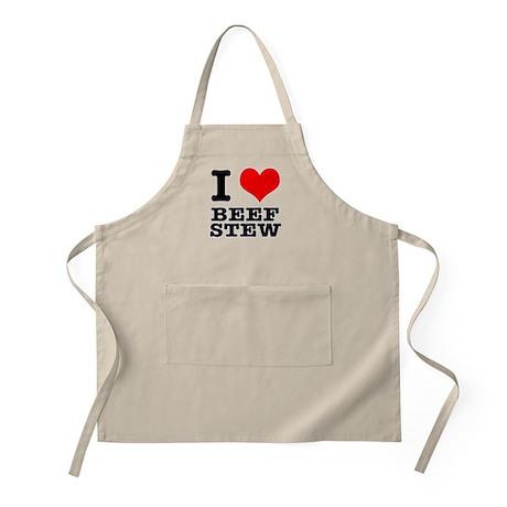 I Heart (Love) Beef Stew BBQ Apron