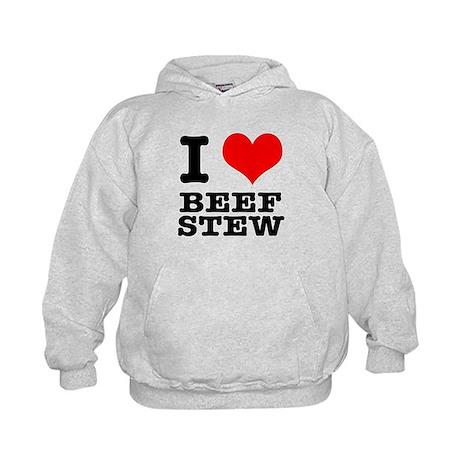 I Heart (Love) Beef Stew Kids Hoodie
