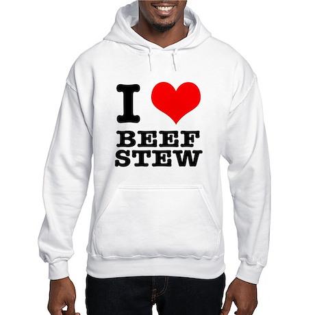 I Heart (Love) Beef Stew Hooded Sweatshirt
