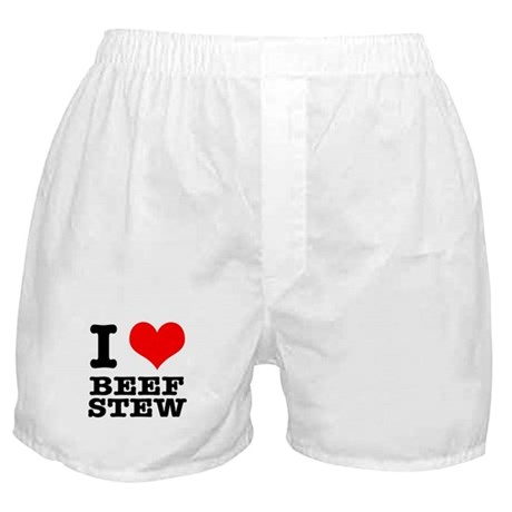 I Heart (Love) Beef Stew Boxer Shorts