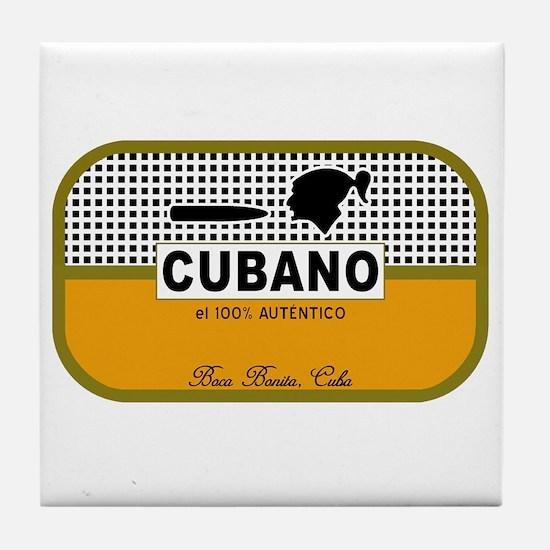 CUBANO el 100% Autentico Alternate Tile Coaster