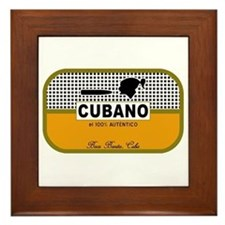 CUBANO el 100% Autentico Alternate Framed Tile