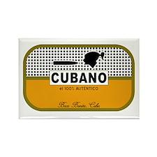 CUBANO el 100% Autentico Alternate Rectangle Magne
