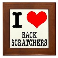 I Heart (Love) Back Scratchers Framed Tile