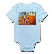 Room with Border Collie Infant Bodysuit