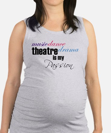 theatrepassion1.png Maternity Tank Top