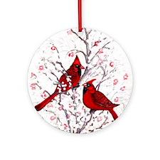 Cardinal Clan Ornament (Round)