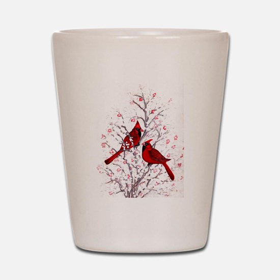 Cardinal Clan Shot Glass