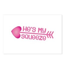 Cupid arrow right Hes my Squeeze Postcards (Packag