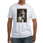 Ophelia & Border Collie Fitted T-Shirt