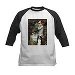 Ophelia & Border Collie Kids Baseball Jersey