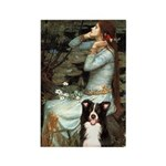 Ophelia & Border Collie Rectangle Magnet (10 pack)