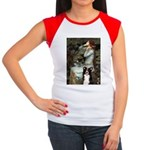 Ophelia & Border Collie Women's Cap Sleeve T-Shirt