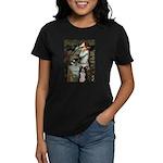 Ophelia & Border Collie Women's Dark T-Shirt