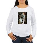 Ophelia & Border Collie Women's Long Sleeve T-Shir