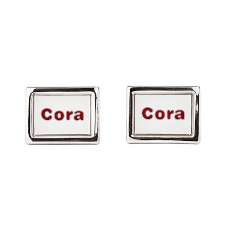 Cora Santa Fur Cufflinks