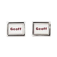 Geoff Santa Fur Cufflinks