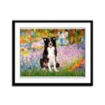 Garden & Border Collie Framed Panel Print