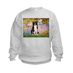 Garden & Border Collie Kids Sweatshirt