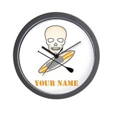 SUP Skull (Personalized) Wall Clock