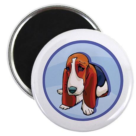 Cute Basset Hound Magnet