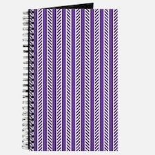 Purple Diagonal Pattern Journal