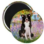 Garden & Border Collie Magnet