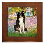 Garden & Border Collie Framed Tile