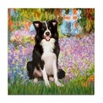 Garden & Border Collie Tile Coaster