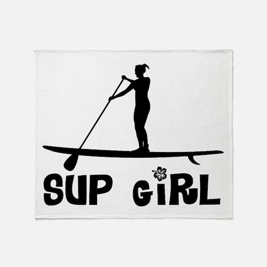 SUP_Girl-b Throw Blanket