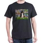 Lilies & Border Collie Dark T-Shirt