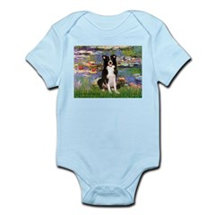 Lilies & Border Collie Infant Bodysuit