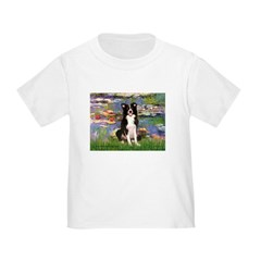 Lilies & Border Collie Toddler T-Shirt